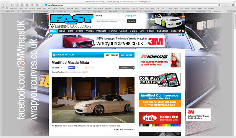 3M Fastcar Website Takeover