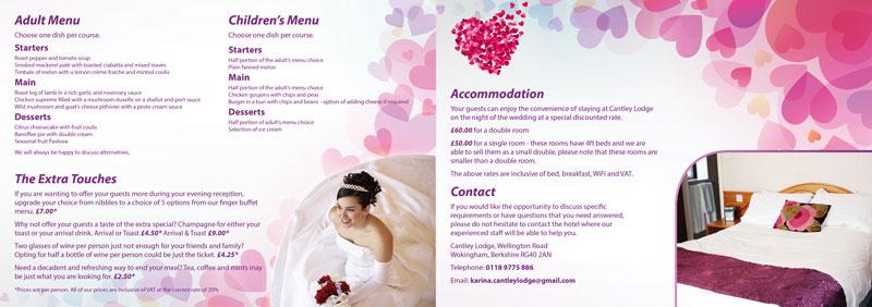 Cantley Lodge Wedding Brochure