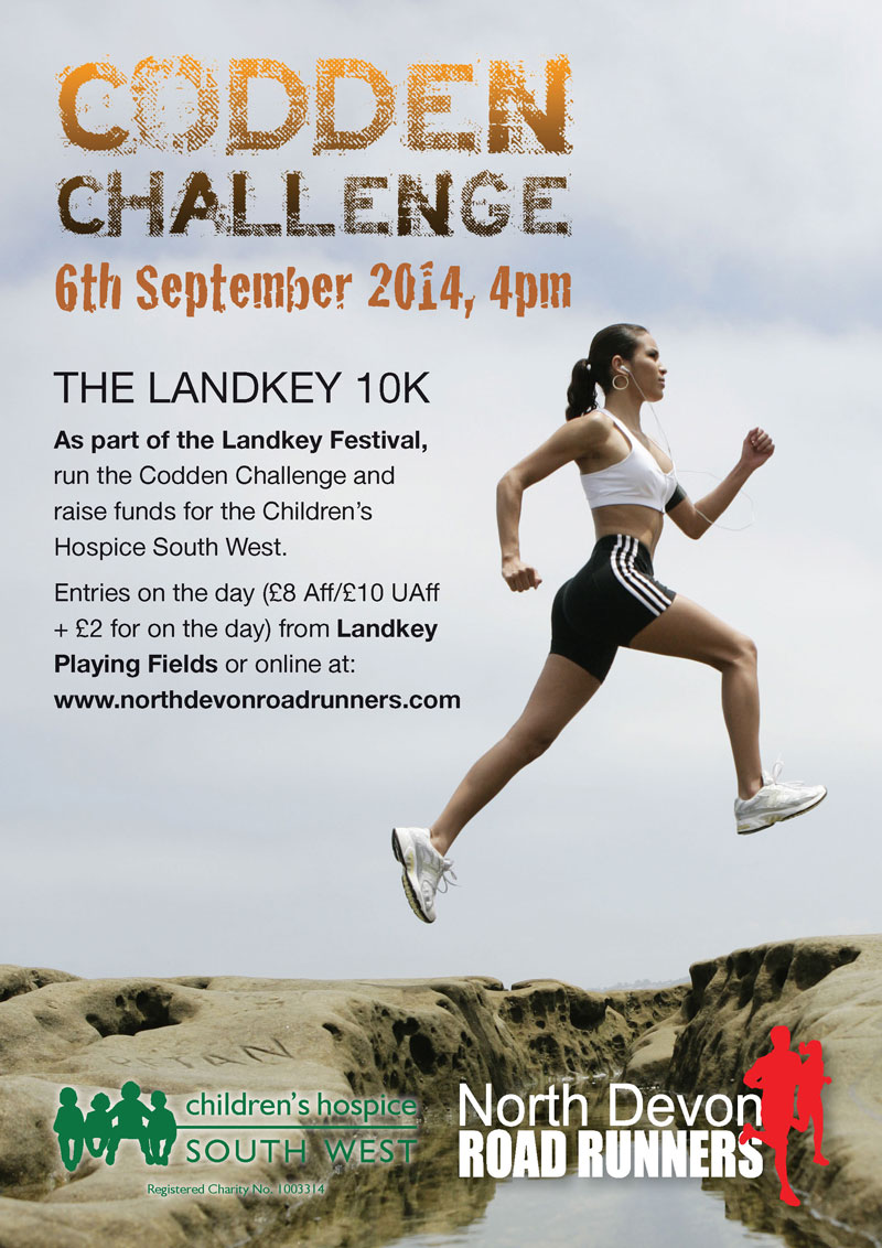 North Devon Road Runners Codden Challenge Poster