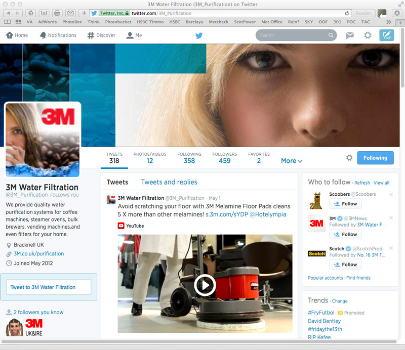 3M Twitter Page