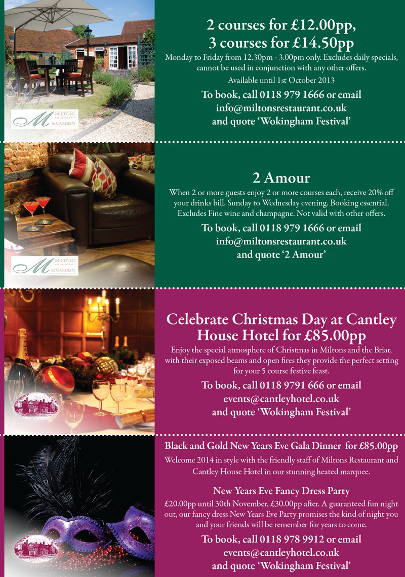 Cantley Hotel Summer Offer Vouchers